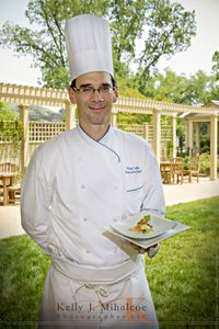 Food shot with Chef Rhys Lewis at the Williamsburg Lodge for Article