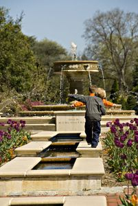 Norfolk Botanical Gardens; Sarah Lee Baker Perennial Garden; Cousins Mason Hartje 3yrs(blonde hair) and Austin Farrow 4yrs(brown hair) These photos are Restricted; Sole property of VTC.  VTC has unlimited usage rights to this photo for an unlimited time