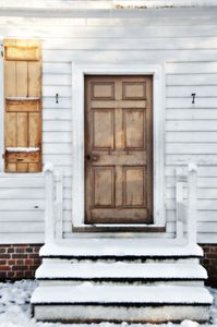 February Snow in Colonial area of historic Williamsburg