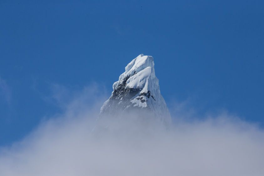 Mountain top in Antarctica