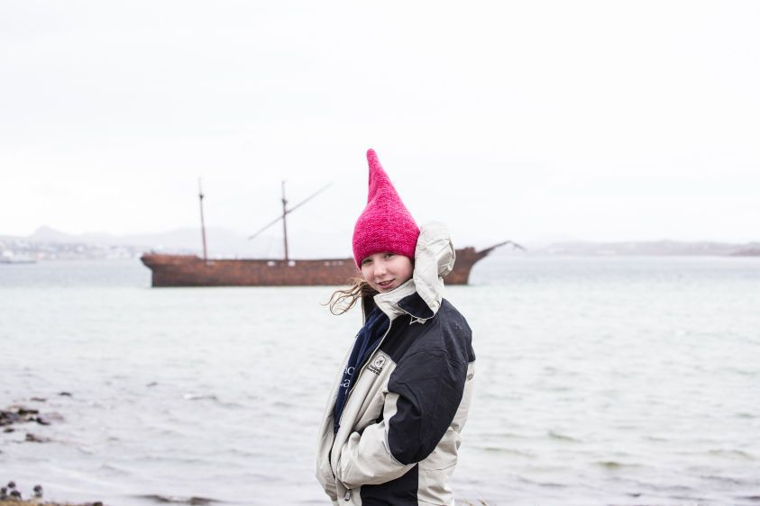 Gnome explores Falkland Islands