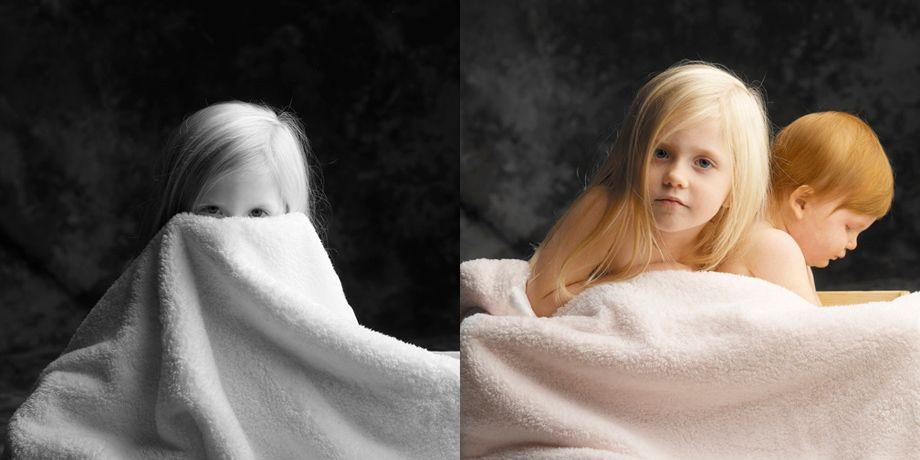 sisters in a blanket