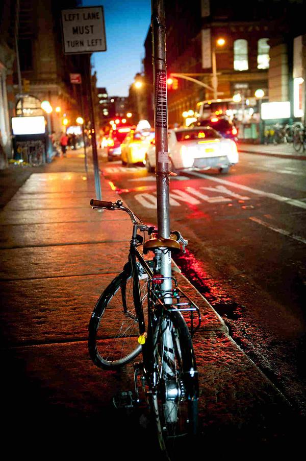 Bike on New York City Street