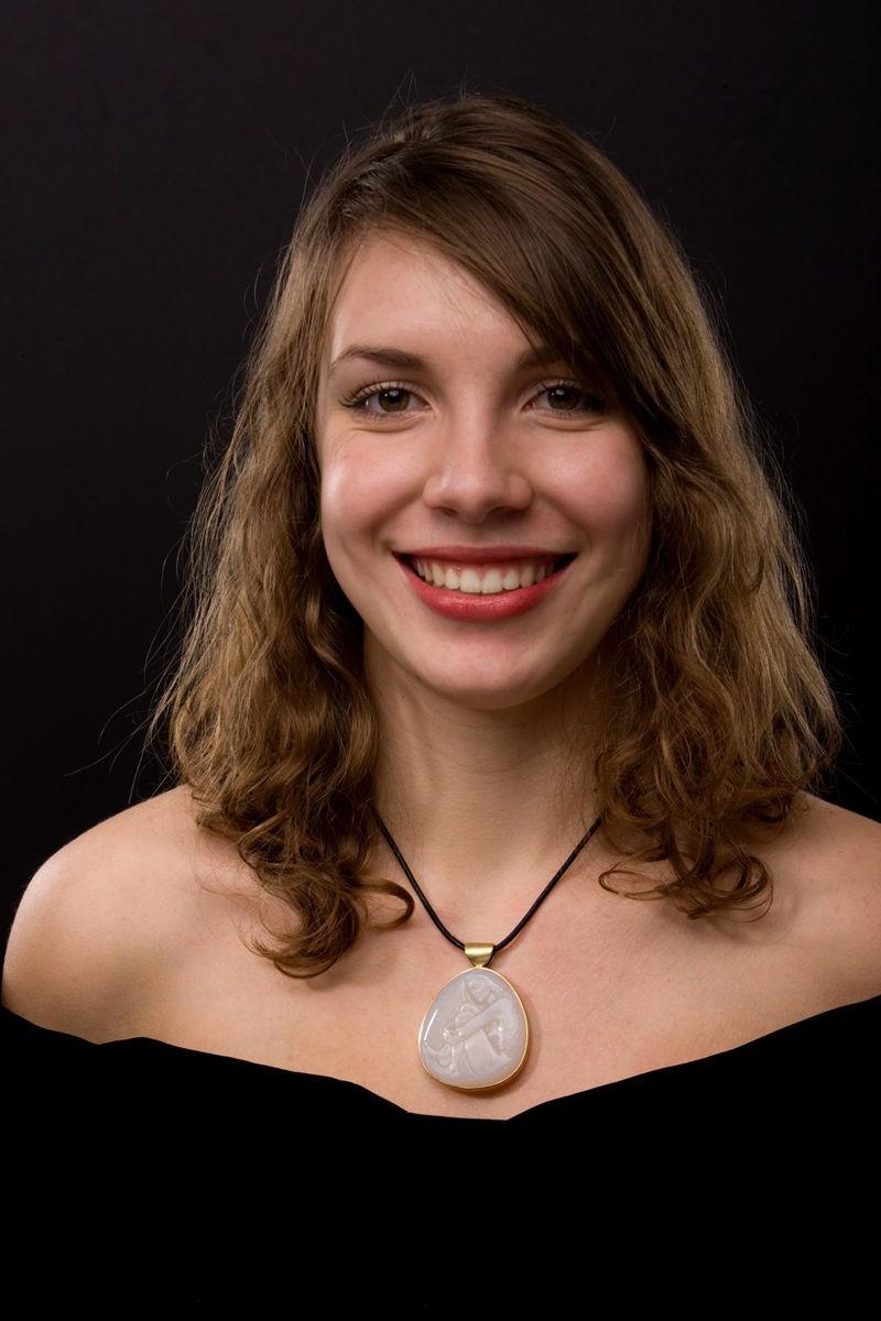 Brazilian Opal Pendant worn by Anabelle Rosier
