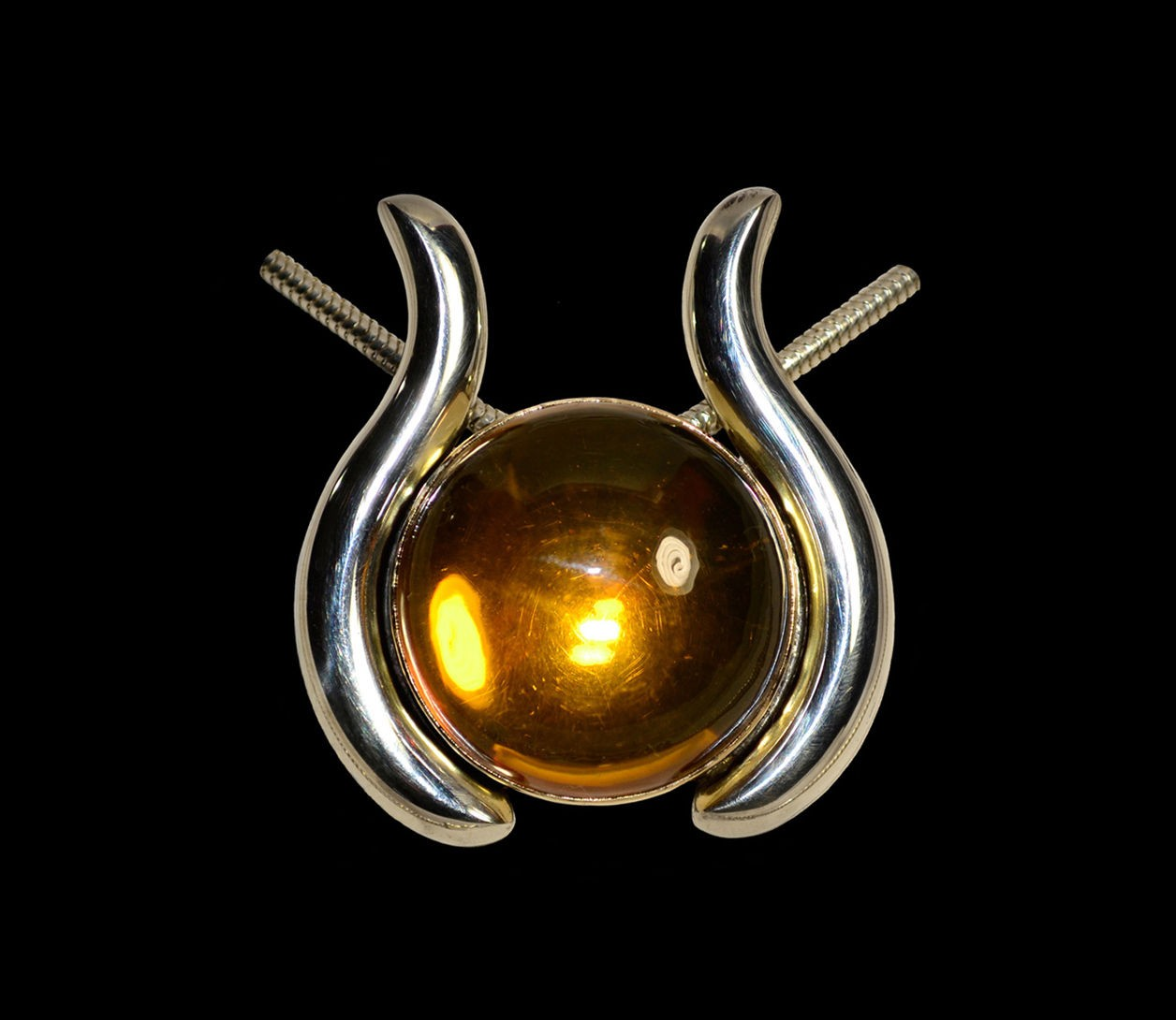 Sally's Amber Pendant set in Sterling Silver