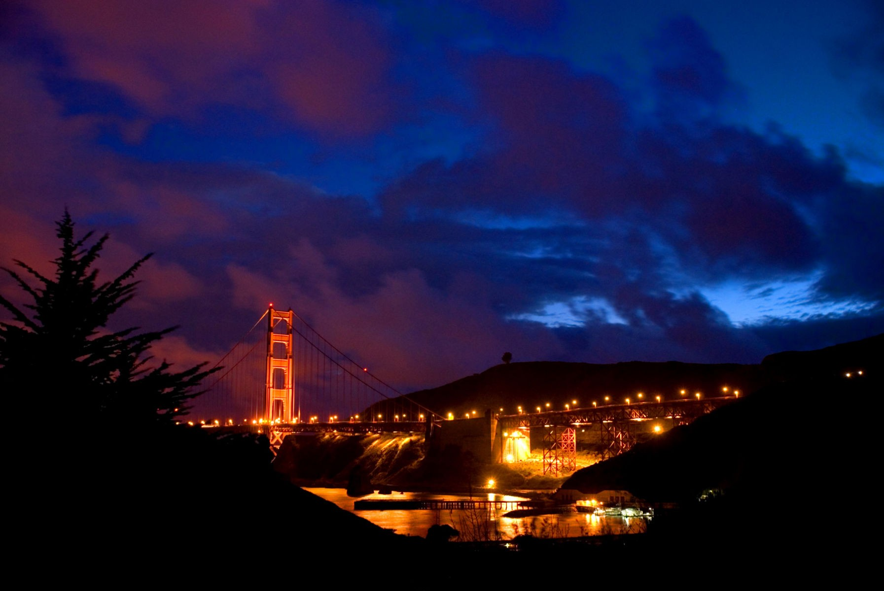Golden Gate Bridge Evening after a Storm