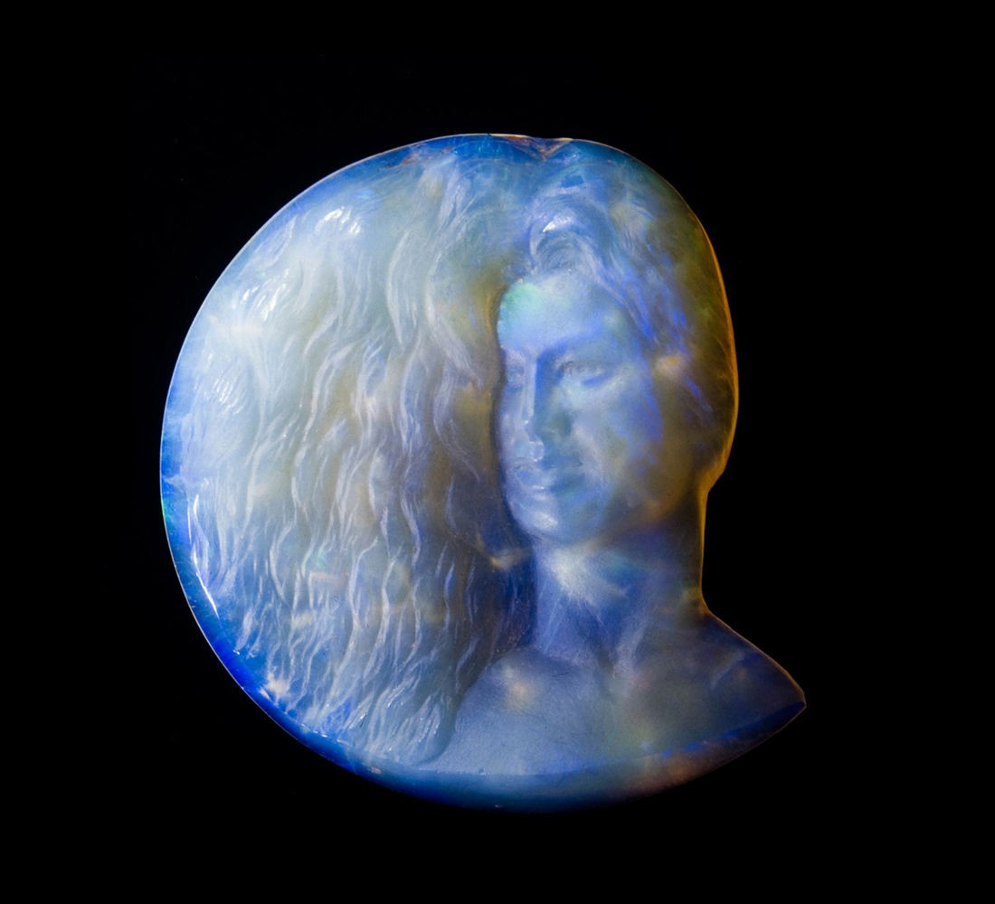 Australian Opal Gem Sculpture 32 ct. Girl