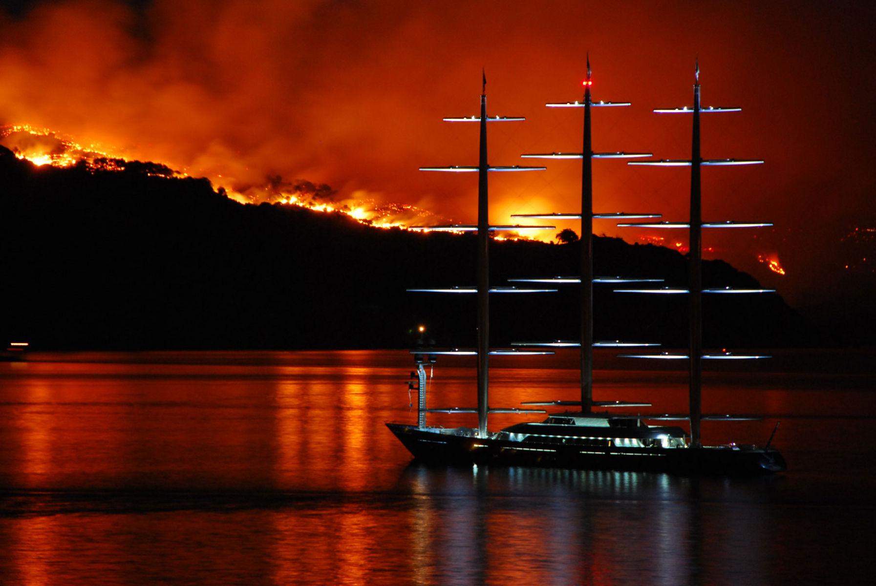 Maltese Falcon And the Angel Island Fire