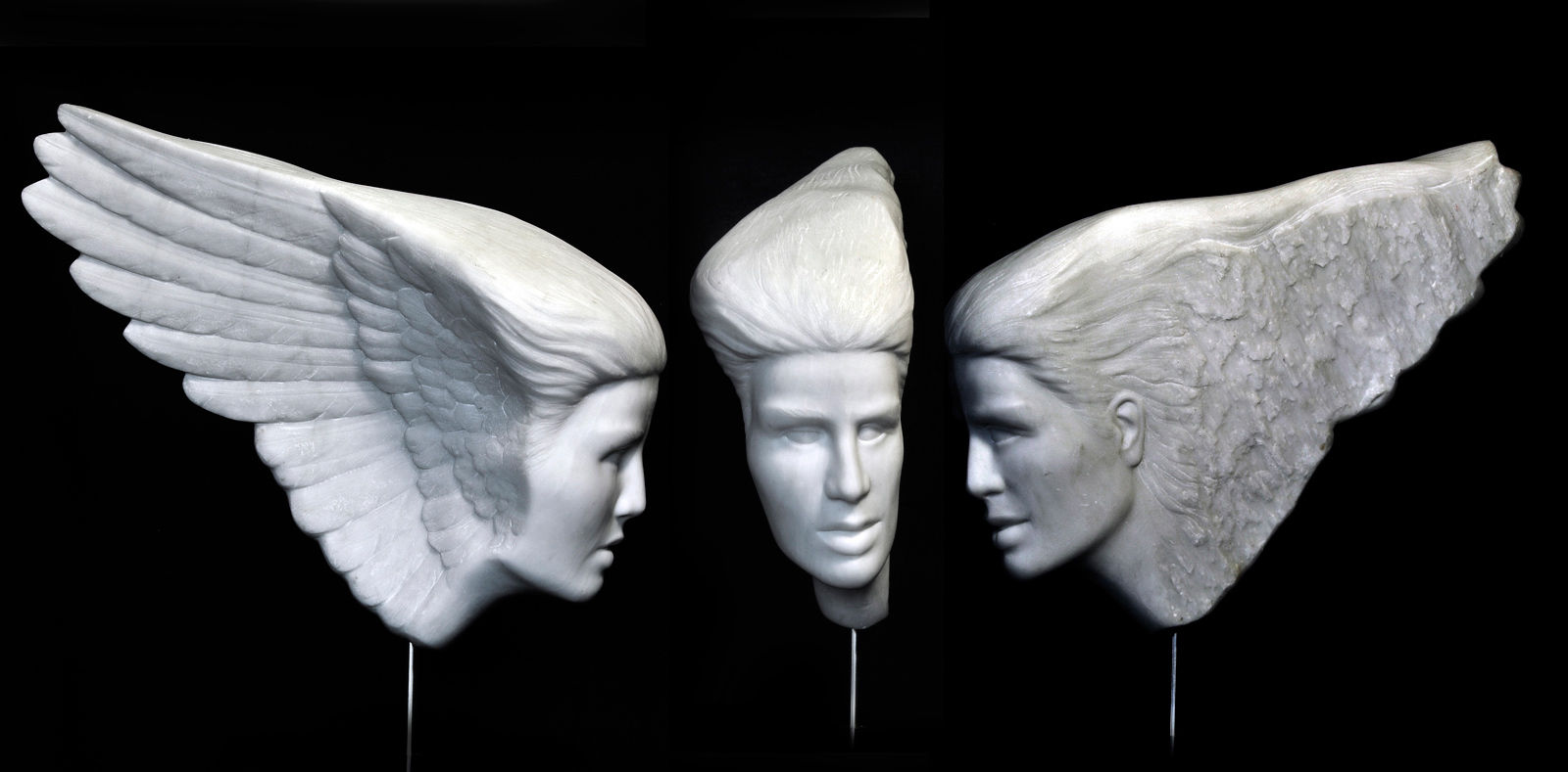 WingFace 3 views Carrara Marble