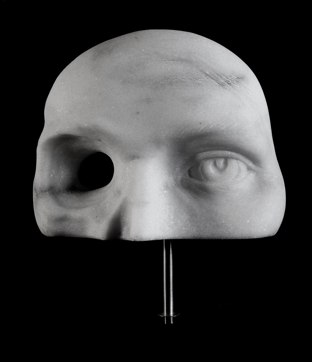 Eyepiece Sculpture Carved in Carrara Marble