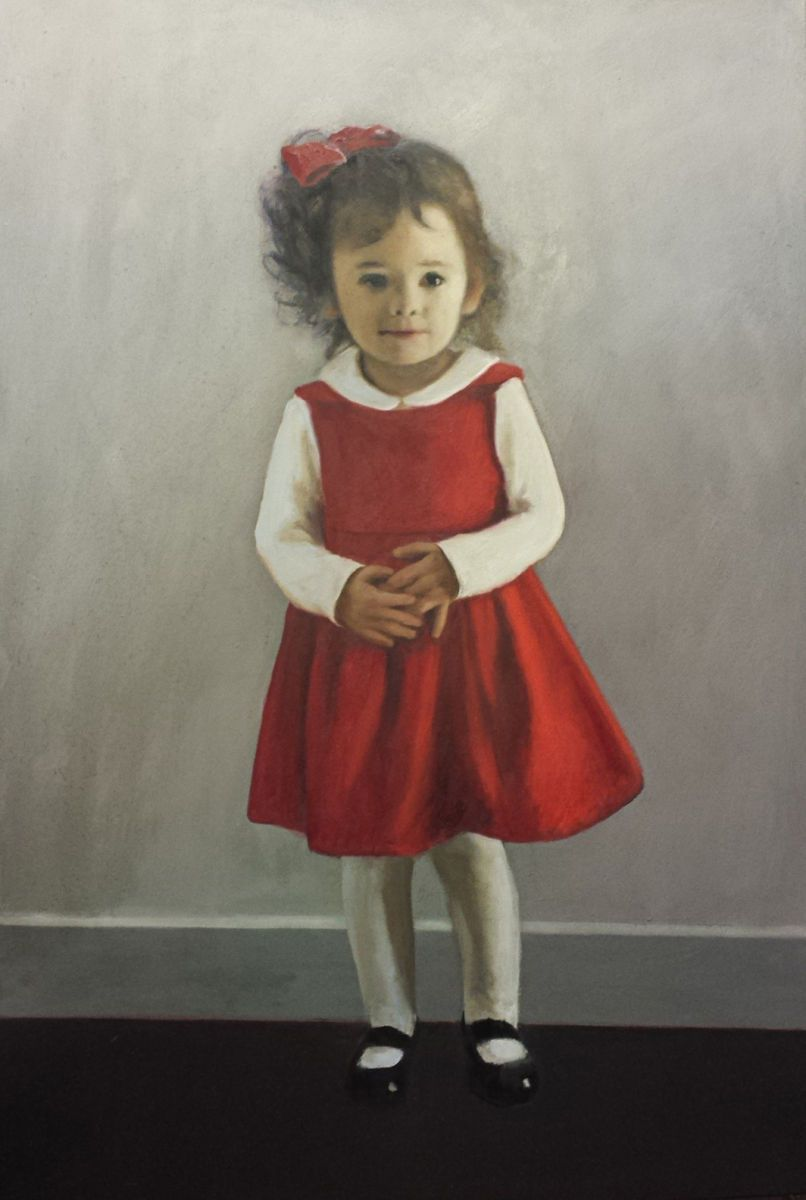 Portrait of Maya in Red Dress