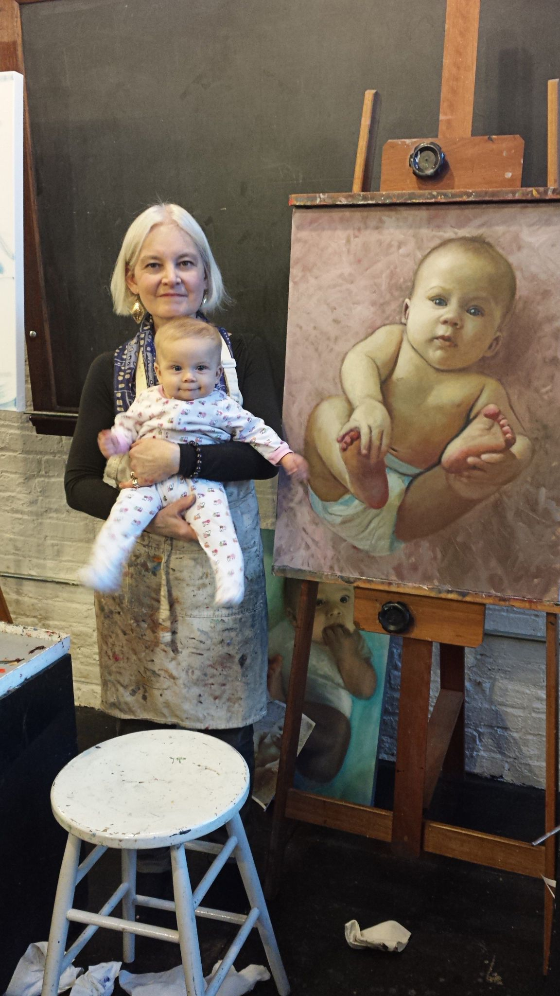 Ann with Alessandra and her Portrait.jpg