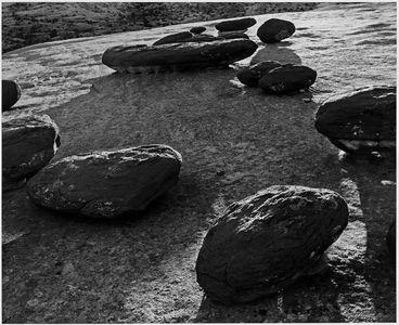 Sandstone Boulders, Eroded Strata, Waterpocket Fold, Capitol Reef National Park, Utah