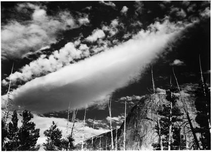 Cloud Over Fairview Dome, Yosemite National Park, Sierra Nevada, California