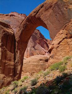 Rainbow Bridge From The Upstream Side, Now Rainbow Bridge National Monument, Utah