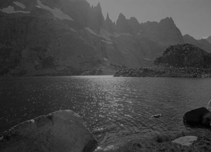 Upper Iceberg Lake, now Cecile Lake, The Minarets, Ansel Adams Wilderness, Sierra Nevada, California, 1950