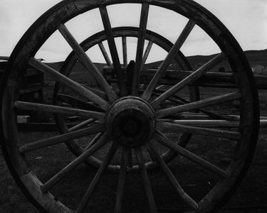 Wagon Wheels At Bodie State Historic Park, East Side Of Sierra Nevada, California.