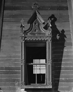 Window Detail, Water Tower Near Masonic Temple, Mendocino, California.