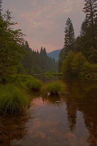 Twilight, Indian Creek, Plumas County, Northern Sierra Nevada, California, copyright 2012 David Leland Hyde.