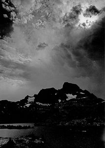 Storm Over Thousand Island Lake, The Minarets, Ansel Adams Wilderness, Sierra Nevada, California.