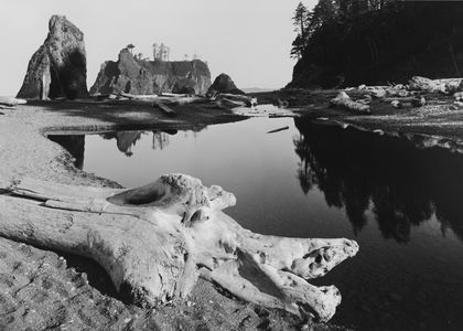Ruby Beach, Olympic Ocean Strip, Olympic National Park, Washington, 1960.