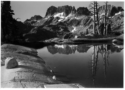 The Minarets from Tarn Above Lake Ediza, Ansel Adams Wilderness, California