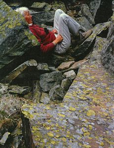 Ardis Hyde Asleep In The Rocks, Yolo National Park, British Columbia, Canada