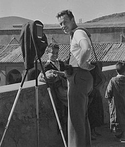 Philip Hyde And Camera On Bridge At Khenifra, Morocco