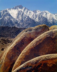 Lone Pine Peak From Alabama Hills Near Lone Pine, East Side of Sierra Nevada, West of Death Valley National Park, California