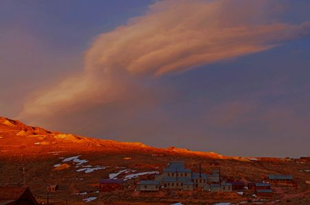 Sierra Wave Cloud Over Bodie State Historic Park Near Mono Lake, Ghost Town Of Bodie, California, 2010 by David Leland Hyde.