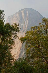 El Capitan, Smokey Day, Yosemite Valley, Yosemite National Park, Sierra, California, copyright 2009 David Leland Hyde.