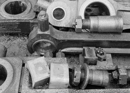Locomotive Parts, Railroad Yard, Tiburon, California, 1948