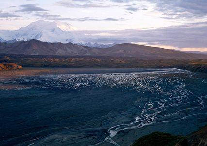 Mt. Denali, Thorofare River, Denali National Park, Alaska