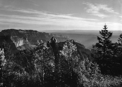 Shinumo Altar From Vista Encantada, North Rim, Grand Canyon National Park, Arizona