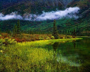 Lake Near Susitna River, Alaska Range