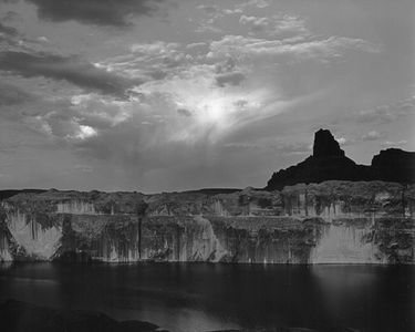 "Fifty Mile Point, ""Lake"" Powell Rising, Glen Canyon, Utah, 1964"