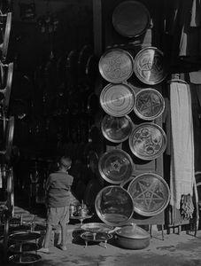 Brass Shop With Display Of Trays, Rabat Medina, Morocco, North Africa