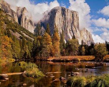 El Capitan, Clouds, Yosemite Natinal Park, California