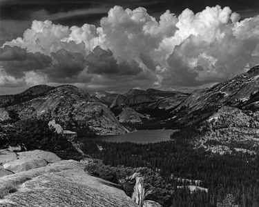 Lake Tenaya, Clouds Over High Sierra, Yosemite National Park, Sierra Nevada, California.
