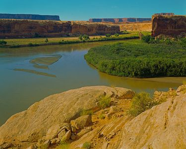 Green River At Anderson Bottom, Canyonlands National Park, Utah