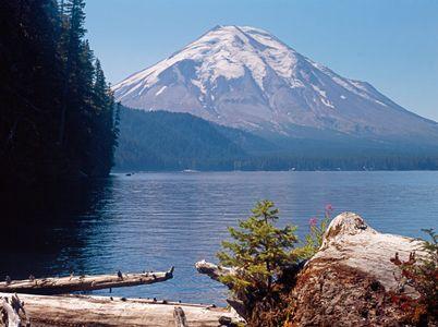 Mt. Saint Helens, Spirit Lake, North Cascade Range Washington (Before Eruptions)