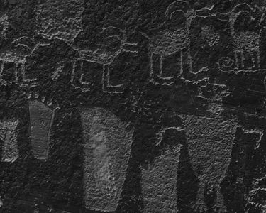 Petroglyphs At Smith Fork, Glen Canyon Of The Colorado River, Utah, 1962
