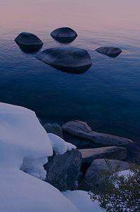 Boulders, Northeast Shore, Lake Tahoe, Northern Sierra Nevada, Nevada, copyright 2013 David Leland Hyde.