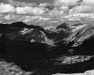 ViewToward Muir Pass From Bench Above Dusy Lakes, Kings Canyon National Park, Sierra Nevada, California