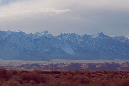 East Side Of The Sierra From The Owens Valley, Sierra Nevada High Peaks, California, copyright 2009 David Leland Hyde.