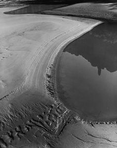 Curved Sandbar In Cataract Canyon, Canyonlands National Park, Utah, 1969.