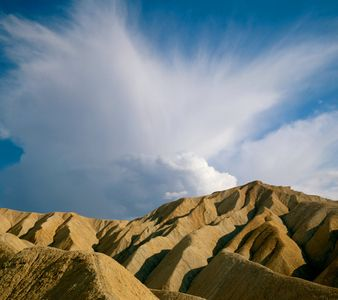 Anvil Cloud Over The Badlands, Death Valley National Park, California