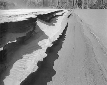 Spring Pool Canyon Sandbar, Glen Canyon Of The Colorado, Utah, 1962
