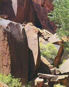 Wingate Boulders, Angular Shadows, Escalante River Narrows, now Grand Staircase Escalante National Monument, Canyons, Utah, copyright Philip Hyde 1968.