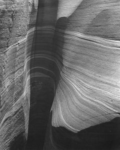 Stream Channel In Sandstone, White Canyon Near Hite, Utah and Glen Canyon, 1963